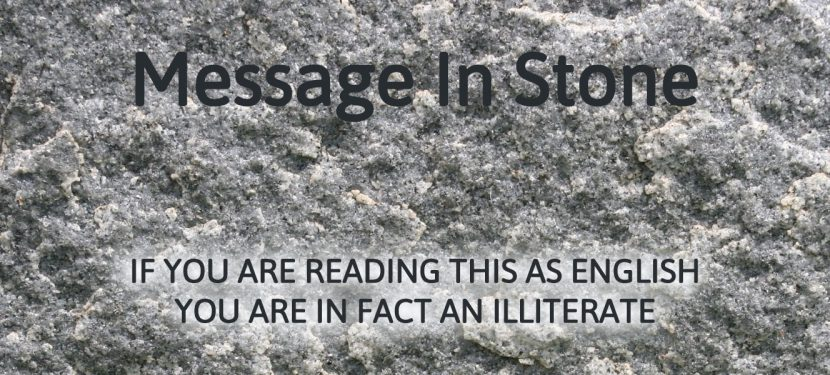 Message In Stone